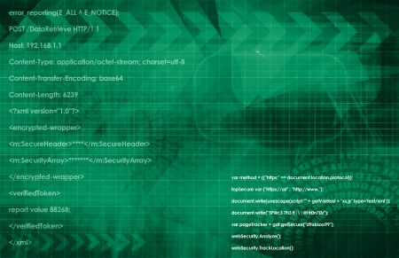 Web Application Database System in 3d Background Stock Photo - 22802010