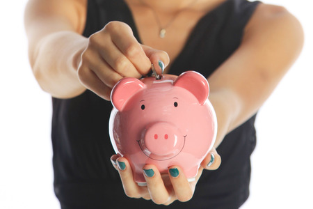 contributions: Investing for the Future Woman Saving Money