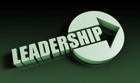 leadership abstract: Leadership Concept With an Arrow Going Upwards 3D