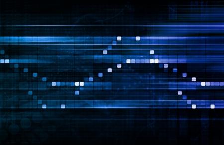 enhanced: Futuristic Interface Business Graph and Chart Art Stock Photo