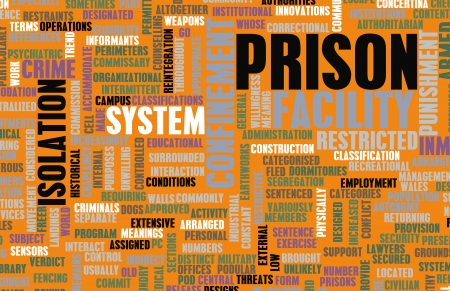correctional: Jail Facility and the Prison System Concept