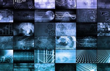 Multimedia Marketing with Cross Platform Technologies Art Stock Photo