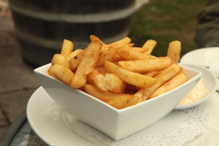 flavoured: French Fries with Aioli Mayonaise Dip Meal