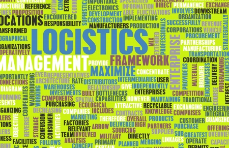 scm: Logistics in SCM and DCM Business Concept Stock Photo