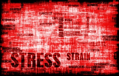 out of control: Stress Management and Being Over Stressed as Art Stock Photo