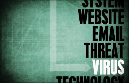 virus informatico: Virus informático amenaza a la seguridad y la protección Foto de archivo
