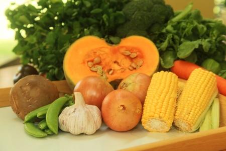 produits alimentaires: Fruits et légumes et autres produits alimentaires Banque d'images