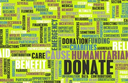 contribuire: Donate per una causa di beneficenza o carit�
