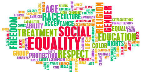 Social Equality Respect for Every Race and Gender 版權商用圖片