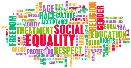 Soziale Gleichheit Respekt für jede Rasse und Geschlecht