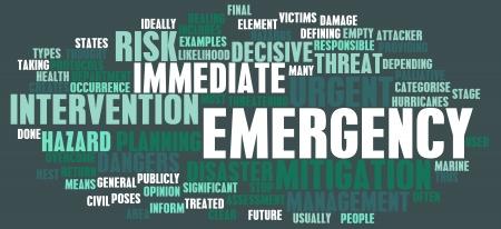 Planification d'urgence et la réaction aux catastrophes comme concept Banque d'images - 23872921