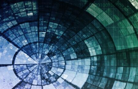 Intelligence artificielle AI Neural Network Logic Art Banque d'images - 23872924