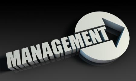 upwards: Management Concept With an Arrow Going Upwards 3D