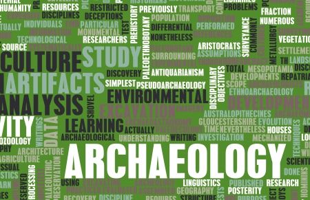 geological: Archaeology Dig and Fun Exploration as Concept