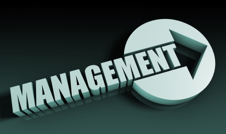 managerial: Management Concept With an Arrow Going Upwards 3D