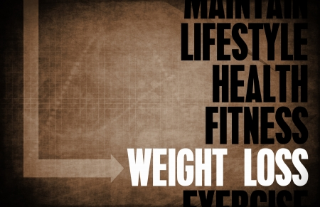 Weight Loss Core Principles als een Concept Stockfoto
