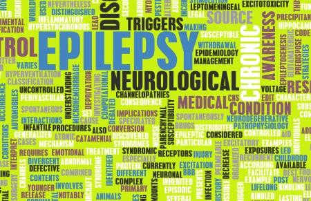 Konzept und Epilepsie epileptischen Anfall als Störung Lizenzfreie Bilder