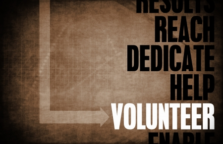 volunteer: Volunteer Key Concepts as a Helper Abstract Stock Photo