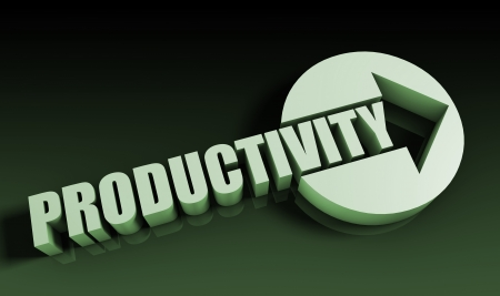 Productivity Concept With an Arrow Going Upwards 3D photo