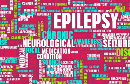 mental illness: Epilepsy Concept and Epileptic Seizure as Disorder Stock Photo