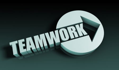 Teamwork Concept With an Arrow Going Upwards 3D photo