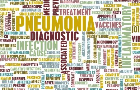 pneumonia: Pneumonia Concept as a Medical Disease Art