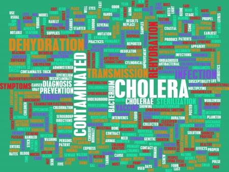 colera: C�lera Enfermedad como un concepto m�dico Condici�n Foto de archivo