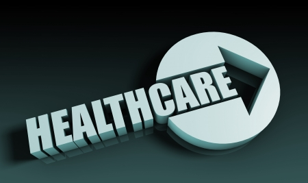 Healthcare Concept With an Arrow Going Upwards 3D photo