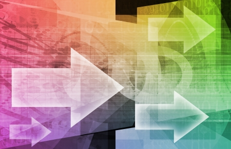 methods: Management Leadership Leading the Way with Arrows