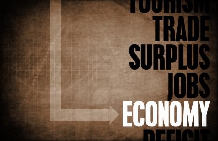 surplus: Economy Core Principles as a Concept Abstract Stock Photo