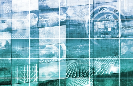 systematic: Global Multimedia Technology in Web Data  Art Stock Photo