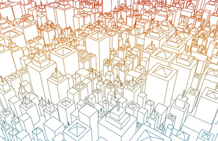 Wireframe city with buildings and blueprint design art stock photo wireframe city with buildings and blueprint design art photo malvernweather Image collections