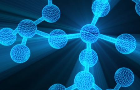 Molecules and Nuclear Research with Helix Glowing photo