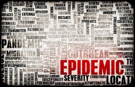 virulence: Epidemic as Outbreak of Infectious Disease as Art Stock Photo