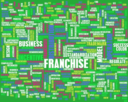 disclosure: Franchise Business Concept as a Abstract Art Stock Photo