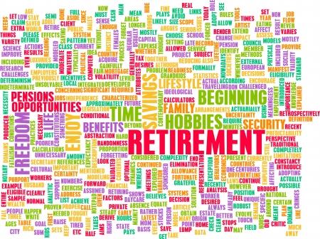 退職後の抽象的な概念として計画 写真素材