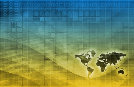 international sales: Digital Economy Abstract Business Concept as Art