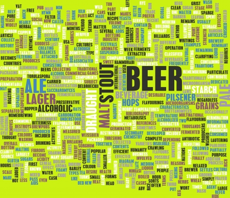 Beer Concept Menu for Ordering and Drink Types  photo