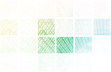 Binary Stream of Information Technology Communication Art