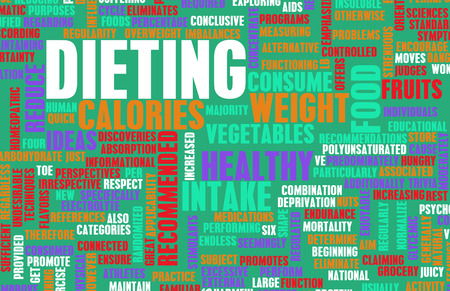 proper: Dieting and Weight Loss as a Concept Abstract Stock Photo