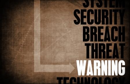 Warnung Computer Security Threat und Schutz
