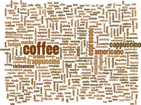 Coffee Background with Different Blends and Types photo