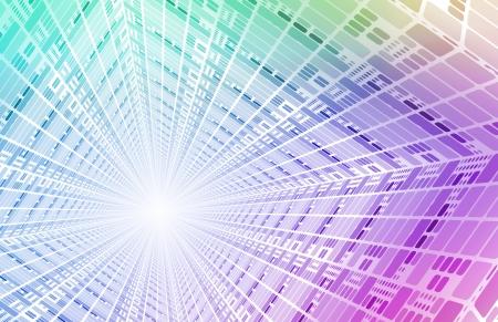 Futur réseau numérique avec des données de communication Art