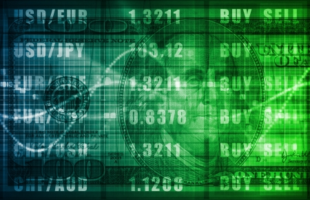 business trending: Forex Trading Online and with US Dollar Graph Stock Photo