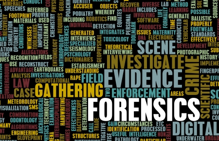 Forensics or Forensic Science as a Concept Stock Photo - 25376964