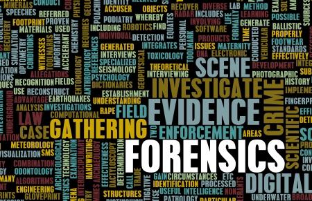 investigación: Los forenses o ciencia forense como un concepto Foto de archivo