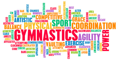 the gymnast: Gymnastics as an Athletic Competitive Sport Art Stock Photo