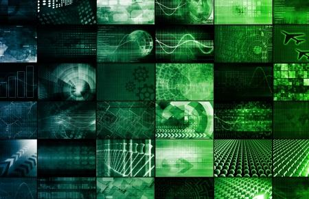 Emerging Technologies Around the World as Art Stock Photo