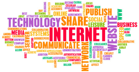 Internet Word Cloud as a Technology Concept photo
