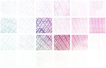 Digital Signal Technology Abstract as Pattern Art photo